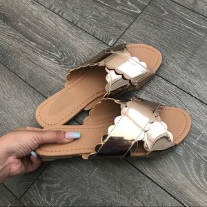 Shoes - Rose Gold Sandals